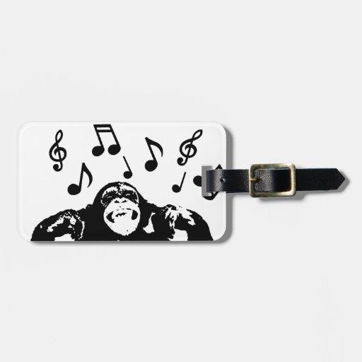 monkeymonkey de la música etiquetas de maletas
