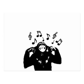 monkeymonkey de la música tarjeta postal