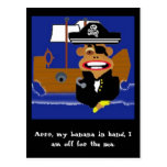 monkeypirate, Arrr, my banana in hand, I am off... Post Cards