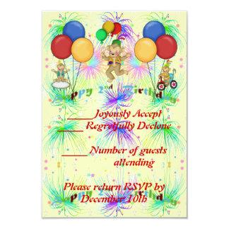 Monkeys 2nd Birthday 3.5x5 Paper Invitation Card