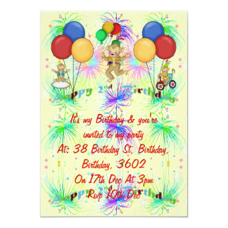 Monkeys 2nd Birthday 5x7 Paper Invitation Card