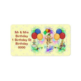 Monkeys 2nd Birthday Label