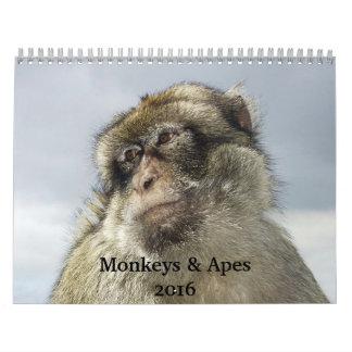 Monkeys and Apes 2016 Calendar