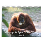 Monkeys and Apes of the World 2016 Calendar