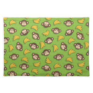 Monkeys and bananas cloth placemat
