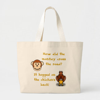 Monkeys and Chickens Tote Bag