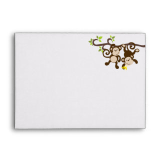 Monkeys and Polka Dots Envelope