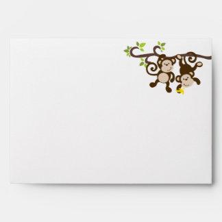 Monkeys and Polka Dots Envelopes