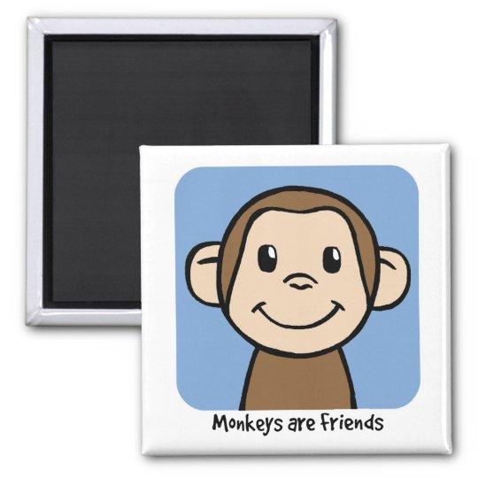 Monkeys Are Friends Magnet