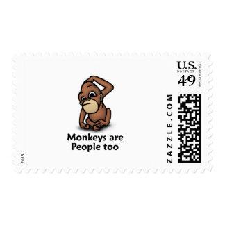 Monkeys are People too Postage