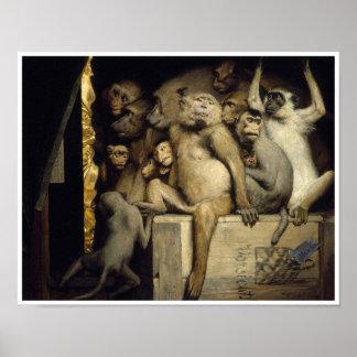Monkeys as Art Critics Poster