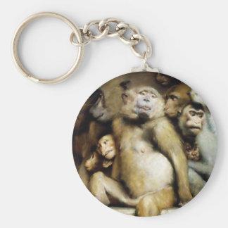 Monkeys as Judges of Art (Detail) Keychain