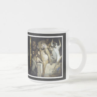 Monkeys as Judges of Art Frosted Glass Coffee Mug