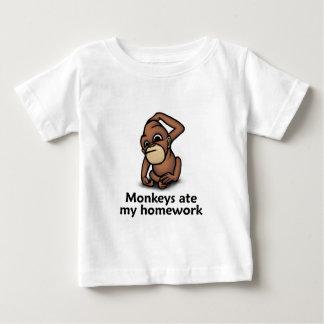 Monkeys ate my Homework Baby T-Shirt