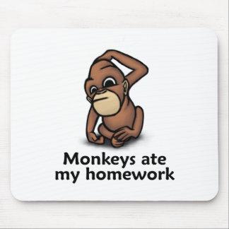 Monkeys ate my Homework Mouse Pad