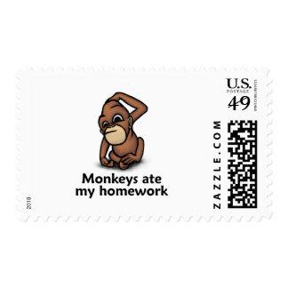 Monkeys ate my Homework Stamps