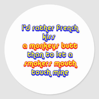 Monkey's butt classic round sticker