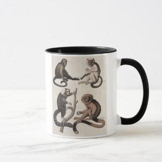 Monkeys (colour litho) mug