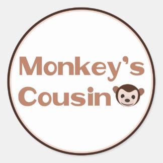 Monkey's Cousin Classic Round Sticker