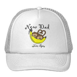 Monkeys Dad of Twin Boys Tshirts and Gifts Trucker Hat