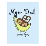 Monkeys Dad of Twin Boys Tshirts and Gifts Postcard