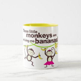 Monkeys Driving Me Bananas Coffee Mug