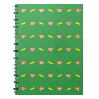 Monkey's Face With Banana's Spiral Notebook