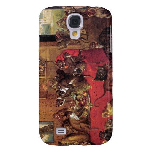 Monkey's Feast Vintage Animal Art by Van Kessel Samsung Galaxy S4 Case