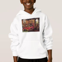Monkey's Feast Vintage Animal Art by Van Kessel Hoodie