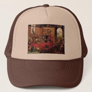 Monkey's Feast Vintage Animal Art by Van Kessel Trucker Hat
