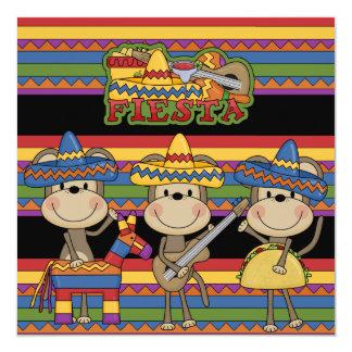 Monkeys Fiesta Customized  Birthday Invitations