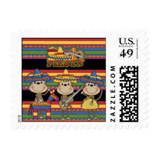 Monkeys Fiesta Postage Stamps