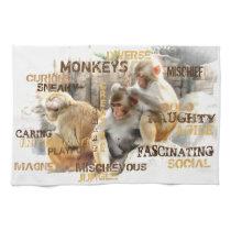 Monkeys Hand Towel