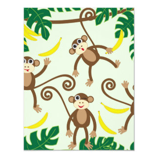 Monkeys Hanging Out Card