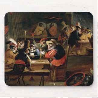 Monkeys in a Tavern, detail of the card game Mouse Pad