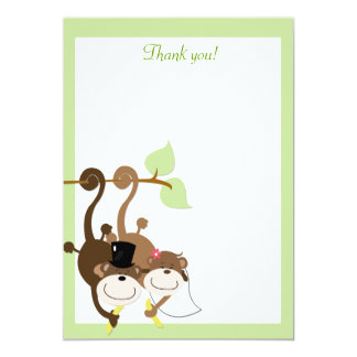 Monkeys in a Tree 5x7 Flat Thank you note Card