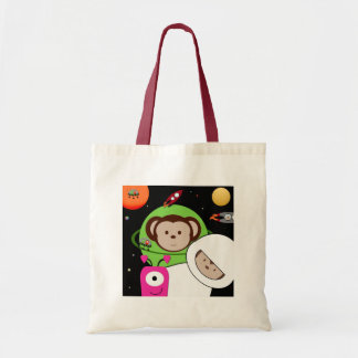 Monkeys in Space Aliens Planet Tote Bag