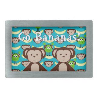 Monkeys in Space Go Bananas Belt Buckle