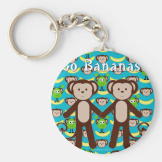 Monkeys in Space Go Bananas Keychain