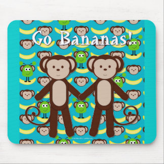 Monkeys in Space Go Bananas Mouse Pad