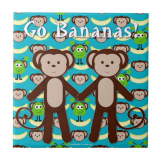 Monkeys in Space Go Bananas Tile