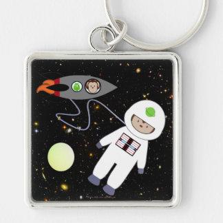 Monkeys in Space Walk Aliens Keychain