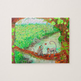 Monkeys in the Jungle Jigsaw Puzzle
