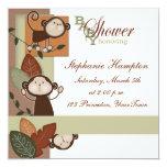 Monkeys & Leaves Baby Shower Invitation