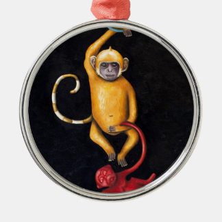 Monkeys Metal Ornament