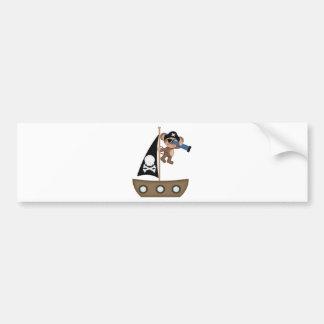 Monkeys of The Caribean pirates Bumper Sticker