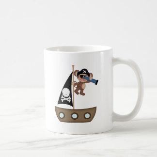 Monkeys of The Caribean pirates Classic White Coffee Mug