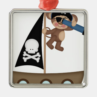 Monkeys of The Caribean pirates Christmas Ornament