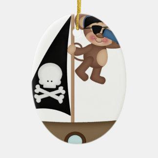 Monkeys of The Caribean pirates Christmas Ornaments