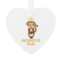 Monkeys Rule Golden Crown Ornament